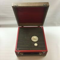 Vintage Cased Suitcase Valve Radio, Red, UNTESTED, 2 Band - MW / LW