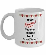 To An Awesome Teacher Thanks For A Great Year Novelty Coffee Mug Teachers Gifts