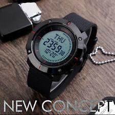 Fashion Mens Digital Military Sport Outdoor Compass Alarm Waterproof Wrist Watch