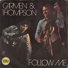 "CARMEN & THOMPSON FOLLOW ME / NO CHANCE ROMANCE 1981 RECORD ITALY 7"" PS F1 TEAM"