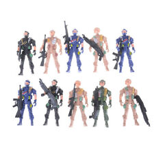 2PCS 9CM Soldier Military Special Force Action Figures Kid Toy Weapon Gun ToyTY