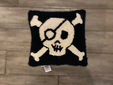 Pottery Barn Kids Blue & White Pirate Skull Throw Pillow