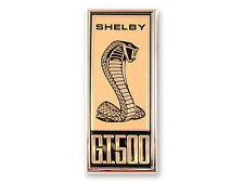 1967 Ford Mustang Shelby GT500 Fender Emblem - Gold and Black