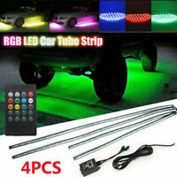 4Pcs LED Strip Lights 5050 RGB Colour Changing Car Interior Decor Lamp Lighting