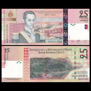 Haiti 25 Gourdes, 2004, Prefix A, P-273A, 200th COMM., UNC
