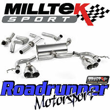 "Milltek Civic Type R FK2 Performance Exhaust 3"" Cat Back Res Titanium Tips EC"