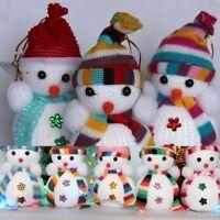 Kids Gift Xmas Decoration Doll Christmas Tree Hanging Ornament Snowman