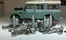 Land Rover Serie 3 Dash Top Crash De Panel y orificios de ventilación inoxidable los tornillos de fijación Set < 75