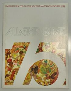 1975 Limited Edition All-Star Game Official Souvenir Magazine Milwaukee Mint