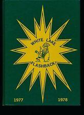 Milford MI White Lake Junior High School yearbook 1978 Michigan