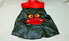 "Dog Vampire Halloween Costume New Black Red Sz Medium 14"" -15"""