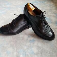Alden 558 Black Calf Skin Leather Straight Tip Blucher Cap Toe Oxford 9.5 E/EEE