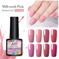 MAD DOLL 8ml Pale Mauve Color Gel Nail Polish Soak Off UV Gel Nails Art Salon