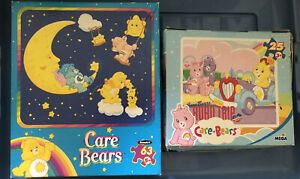 Rare VTG Complete CARE BEARS Night Moon Road Trip Bedtime PUZZLES Lot Gift Art