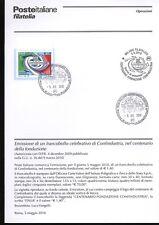 ITALIA 2010 CONFINDUSTRIA  BOLLETTINO COMPLETO DI FRANCOBOLLI ANNULLO FDC