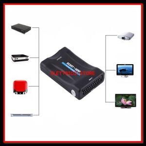 CONVERTITORE ADATTATORE VIDEO / AUDIO da HDMI DIGITALE A USCITA SCART ANALOGICA