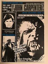The John Carpenter File British Fanzine Issue 6 Oop January 1989 Preowned