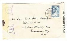 Netherlands Antilles Sc#135-CURACAO WILLEMSTAD 24/9/42(?)-WWII CENSUUR TAPE