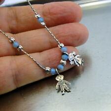 Hadar Designers 14K Gold Fil Sterling Silver Opal Charm Figures Bracelet () SALE