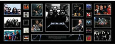 New Metallica Signed Panoramic Limited Edition Memorabilia Framed