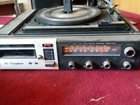 Electrophonic AM/FM Stereo bsr Record Turntable 8 Track Tape Player parts repai