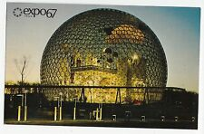 Expo 67 Montreal Canada Pavilion United States Early Evening Vintage Postcard