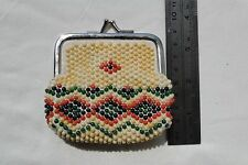 Vintage purse colored plastic beads