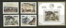 SOUTH WEST AFRICA 1987, ART: PAINTINGS BY THOMAS BAINES, Scott 578-581,580a, MNH