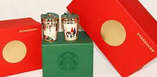 STARBUCKS - 2016 - Polar Bear & Penguin Ceramic Christmas Ornaments SOLD OUT NEW