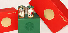 STARBUCKS - 2016 - Polar Bear & Penguin Ceramic Christmas Ornaments SOLD OUT NEW