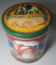 Vintage Laje'S Santa Claus Shortbread Cookie Tin Christmas Decor