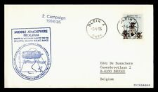 DR WHO 1985 NORWAY MIDDLE ATMOSPHERE PROGRAM ANTARCTIC CACHET TO BELGIUM  d58836