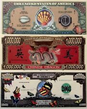 UNITED STATES $1 MILLION Dollars ASSORTED FANTASY BANKNOTES