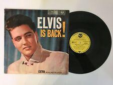 """Elvis Presley """" IS BACK !  """" rare LP Original France Label jaune RCA 430.324"""