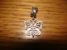 KAY JEWELERS CHARMED MEMORIES BUTTERFLY PINK SWAROVSKI ELEMENTS STERLING SILVER