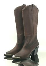 Frye Faye Metal Stud Pull On Women's Boots Cowgirl Western Leather Brown Size 8