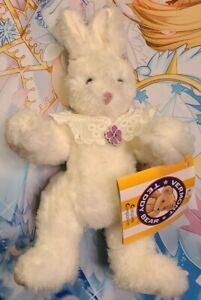 """New Vermont Teddy Bear Co. 14"""" Bunny Rabbit w/Tags Large Easter Bunny NWT Soft!"""