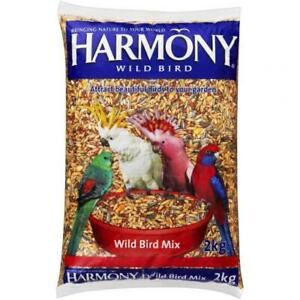 NEW Harmony Natural Diet Wild Bird Seed Fruit Nut Mix Healthy Supplement 2kg