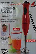 Gourmetmaxx Stabmixer Red Star 400 Watt