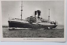 27436 PC ship MN SS Martha Washington Cosulich Line Trieste AK Schiff um 1930