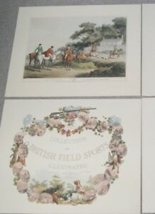 4 x Antique c1807 Hunting Prints in British Field Sports Series by Samuel Howitt