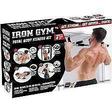 Iron Gym 4 in 1 Total Upper Body Workout Pull UP sit Up Push Ups And Dips
