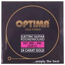 OPTIMA 24 quilates de oro Cuerdas para Guitarra Eléctrica | 2028EL 2028 el |. 009 - .042