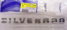 1x  GENUINE Chrome SILVERADO Nameplate Emblem Badge YU 1500 2500HD Chevy OEM