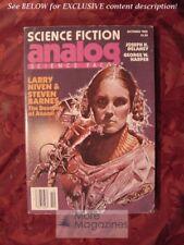 ANALOG October 1982 Larry Niven Steven Barnes Mark C. Jarvis Joseph H. Delaney