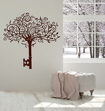 Vinyl Wall Decal Abstract Tree Key Home Art Interior Ideas Stickers (ig4855)