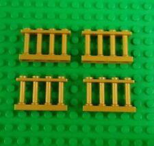 *NEW* Gold Fences 4x2x1 Palings Railings Modular Houses Buildings - 4 pieces