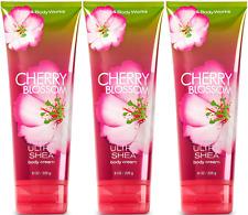 Bath & Body Works Cherry Blossom Body Cream 8 oz / 226 g Set of 3 Tubes