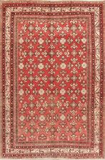 Vintage All-Over Geometric Malayer Hamedan Area Rug Hand-Knotted Oriental 7'x11'