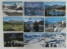 Postkarten Lot Schweiz 9x AROSA Kanton Graubünden frankiert Helvetia Briefmarken